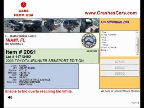 Cheap Salvage Cars For Sale In Miami