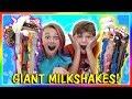 GIANT MILKSHAKE CHALLENGE | We Are The Davises