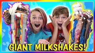 GIANT MILKSHAKE CHALLENGE | We Are The Davises