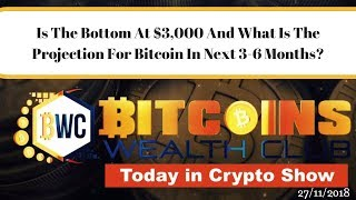 Is The Bottom At $3,000 And What Is The Projection For Bitcoin In Next 3-6 Months?