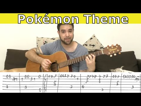 Fingerstyle Tutorial: Pokémon Theme - Guitar Lesson w/ TAB