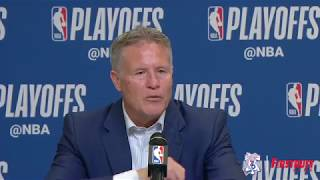 Brett Brown | Postgame at Heat (4.19.18)