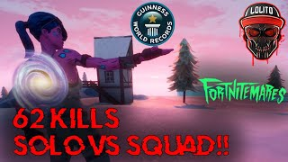 💀¡NUEVO RECORD MUNDIAL SOLO VS SQUADS - 62 KILLS WIN! 💀 ~ FORTNITE 2 HALLOWEEN