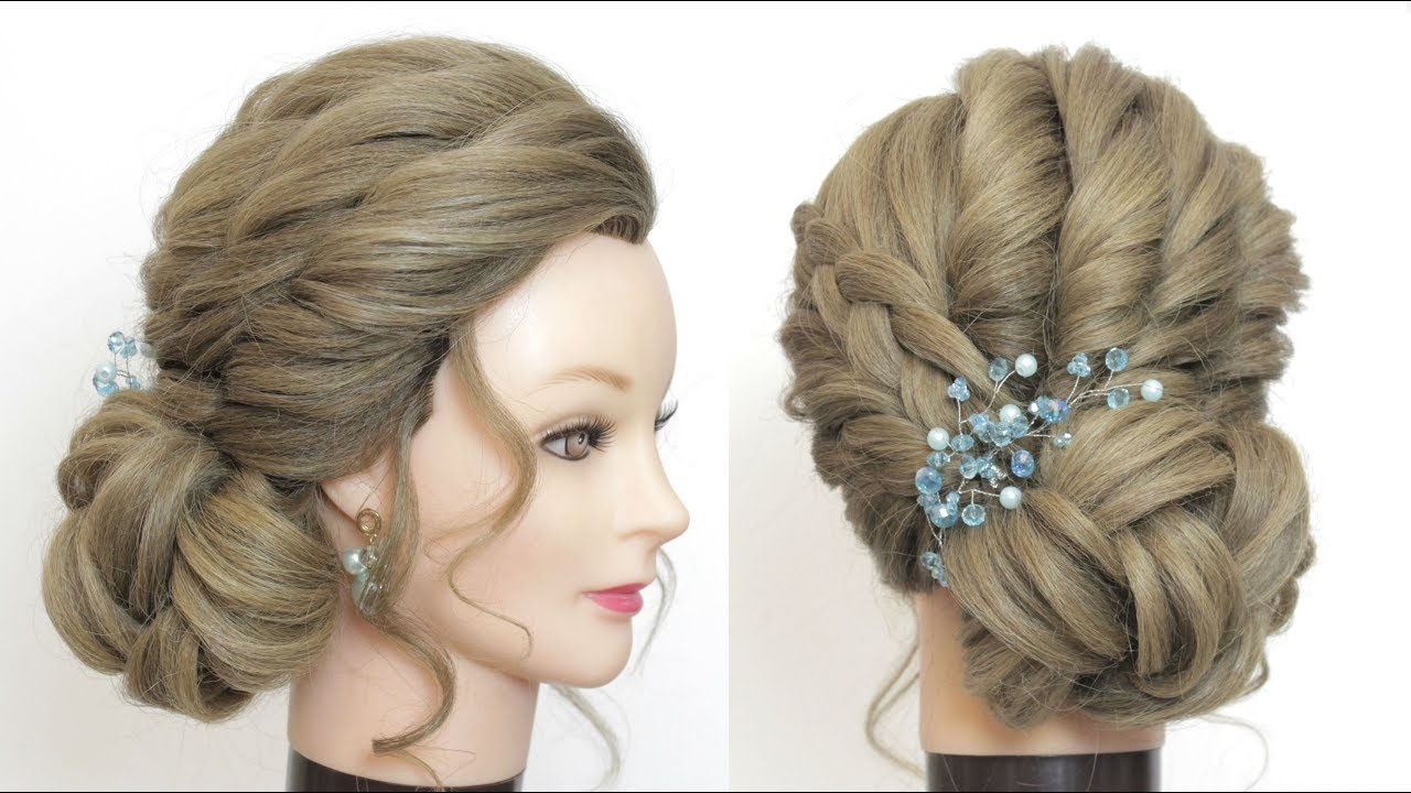 bridal hairstyle for long hair. new low side bun.