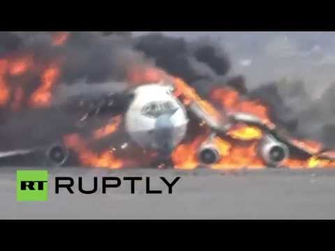 Yemen: Saudi-led airstrikes hit military plane at Sanaa International Airport
