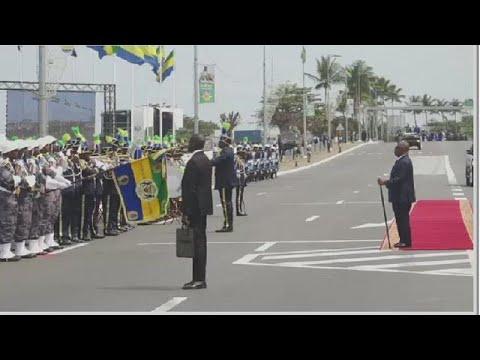 Gabon : Ali Bongo Ondimba à la parade militaire du 17 août