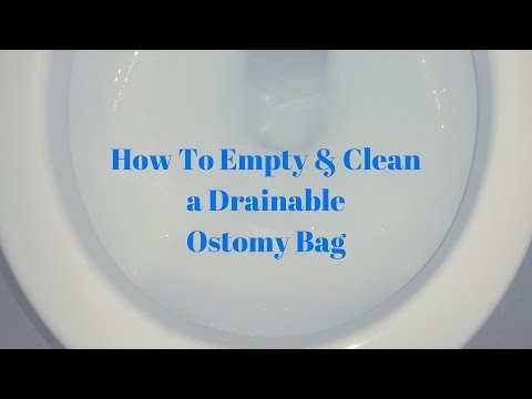 How to empty and clean an ostomy bag: OSTOMY TIPS - YouTube