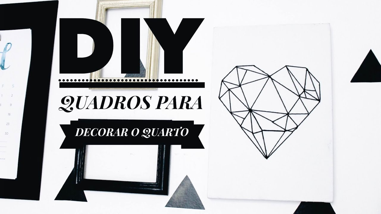 DIY QUADROS PARA DECORAR O QUARTO  TUMBLR INSPIRED  YouTube