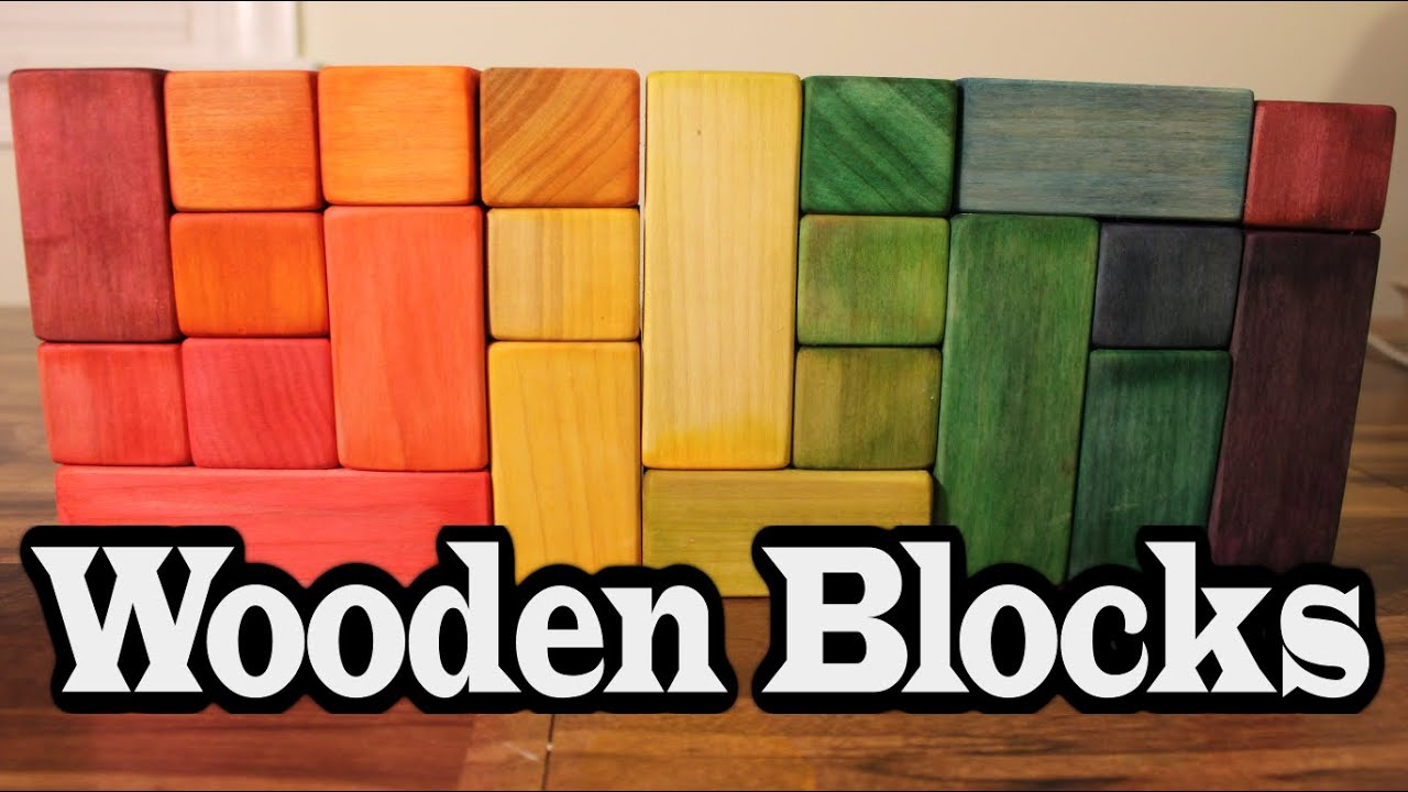 DIY Wooden Blocks ~ Easy Wood Toy - YouTube