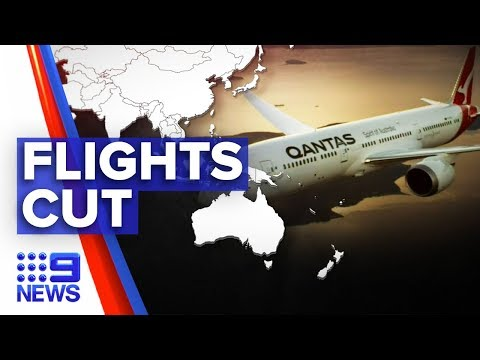 Coronavirus: Qantas slashes more flights as disease escalates | Nine News Australia