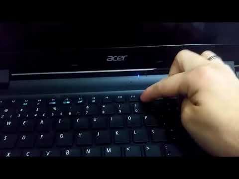 Como formatar notebook Acer ES1