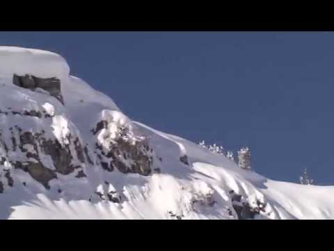 HUGE Snowmobile Cliff Jump YouTube - This is what happens when you fly a snowmobile off a cliff