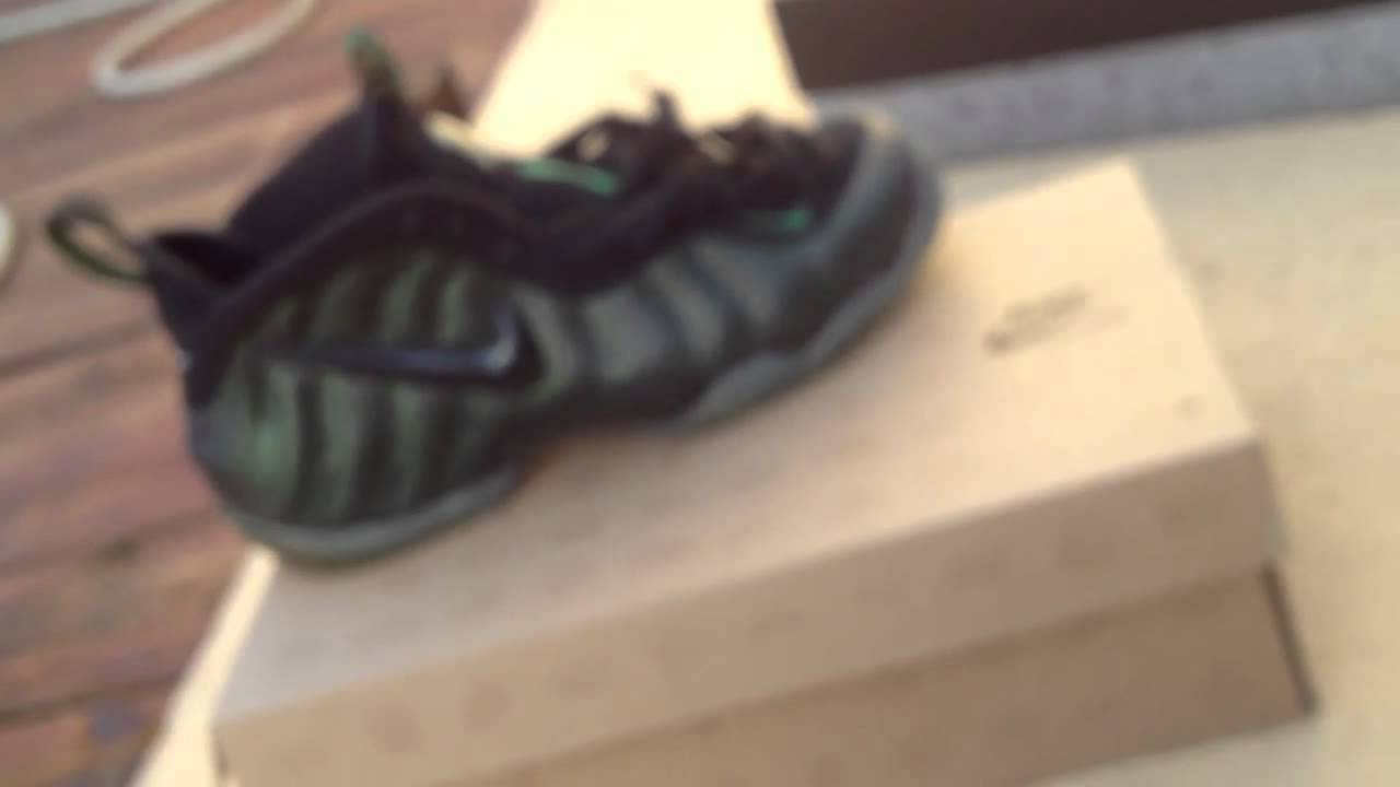 f6746145226 Nike Pine Green Foamposite review w  on foot - YouTube