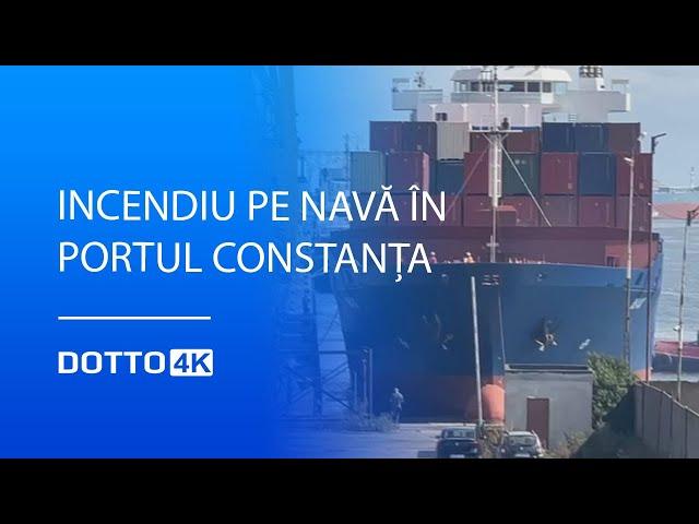 Incendiu pe navă în Portul Constanța