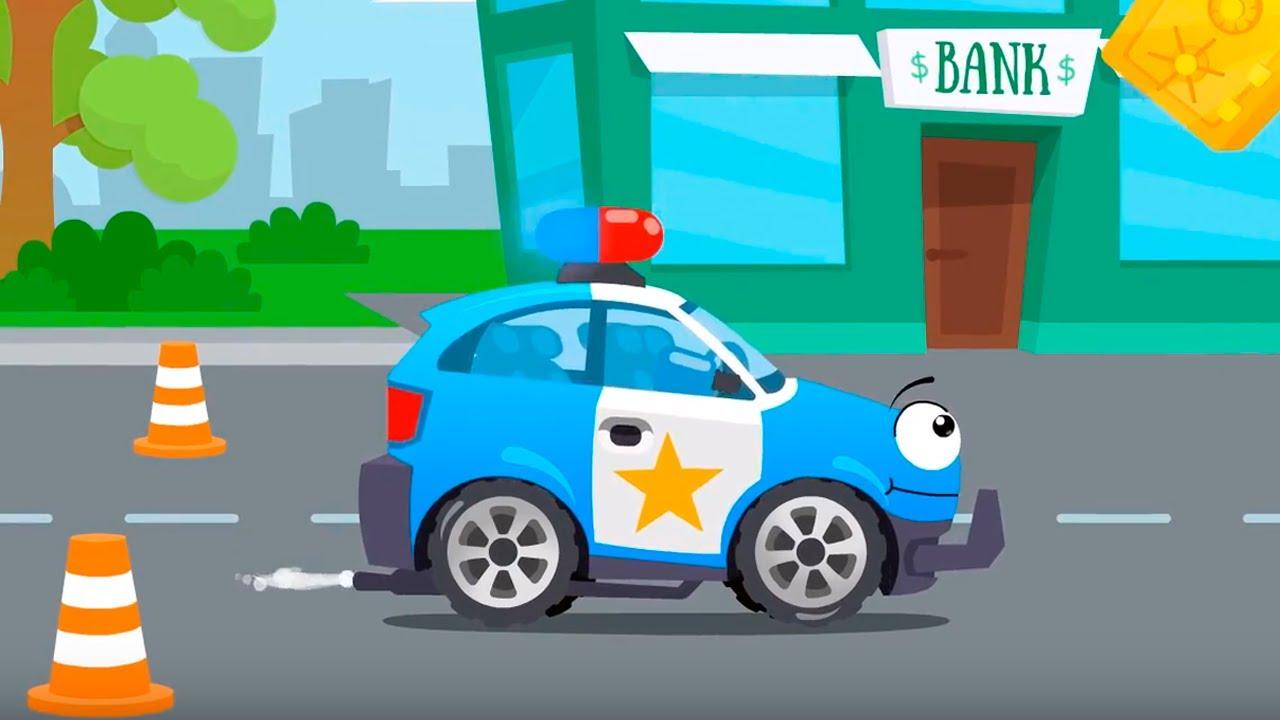 El Carro de Policía y su rifle con fresas - Cars Stories - Dibujos animados para niños