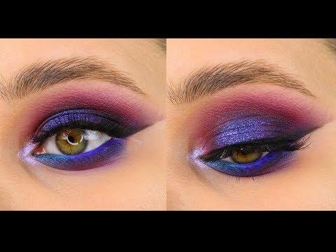 Яркий вечерний макияж с пигментами, Усмиряющая взглядом-Тамми Танука