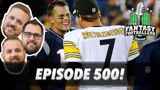 Fantasy Football 2017 - 500th Episode! Week 15 Matchups + Greatest Moments - Ep. #500