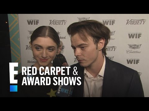 """""""Stranger Things"""" Stars Natalia & Charlie Have An Emmys Date Night 