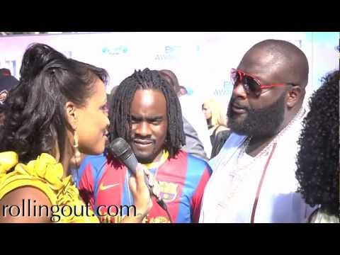"Rick Ross & Wale Say ""We're Blessed"" on the BET Awards 2011 Red Carpet"