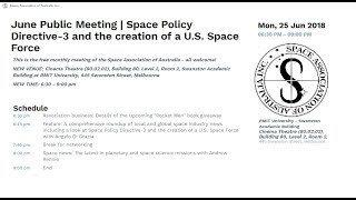 SAA - June 2018 - Space news and U.S. Space Force