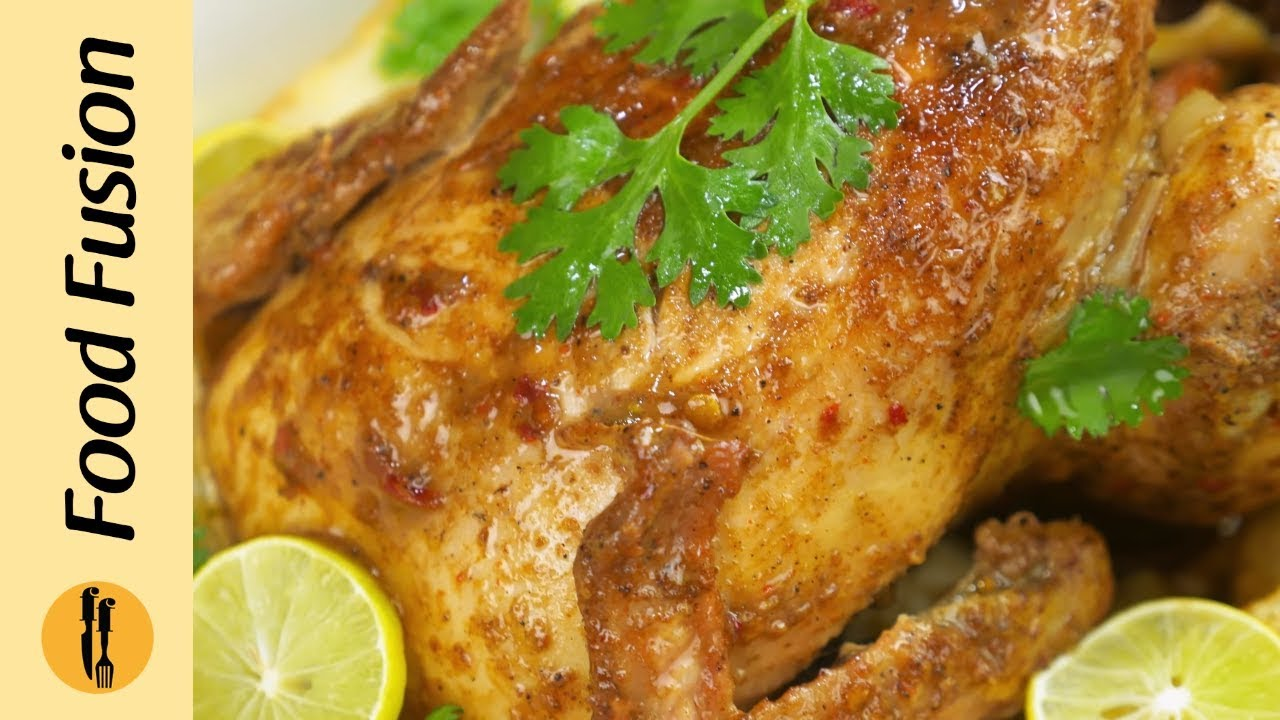 Whole Chicken Roast Without Oven Recipe By Food Fusion Youtube