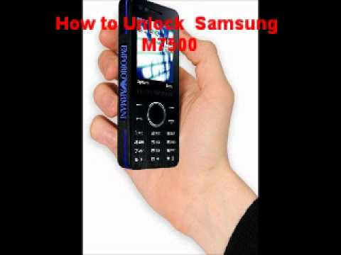 Samsung M7500 Unlock Code - Free Instructions