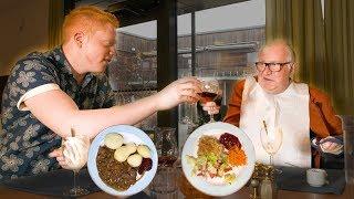 Testar maten på ett svenskt äldreboende
