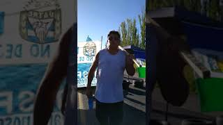 Trabajadores del gremio Uatre cortan desde hace minutos la Ruta 22 en la rotonda de Paso Córdoba