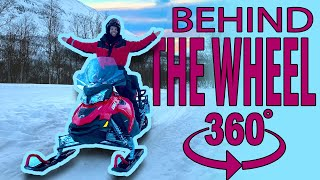 A Snowmobile Ride in 360 Degrees!