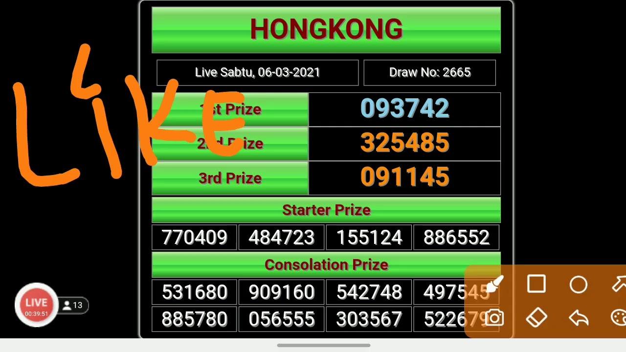 ♔ Hangat Live draw hk 6d harian togel