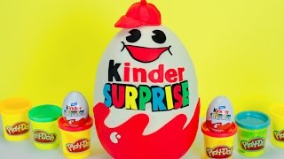 🐣 GIANT PLAY DOH EGG KINDER SURPRISE Egg Chocolate DISNEY Princess Shopkins Huevo Sorpresa PLP TV