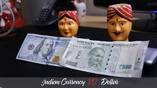 New Indian Currency 500 Rupee note Vs Dollar