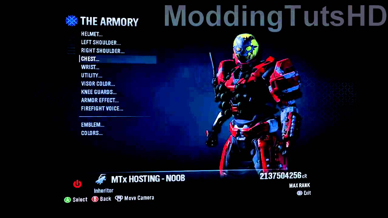 halo reach cheats how to get all armor