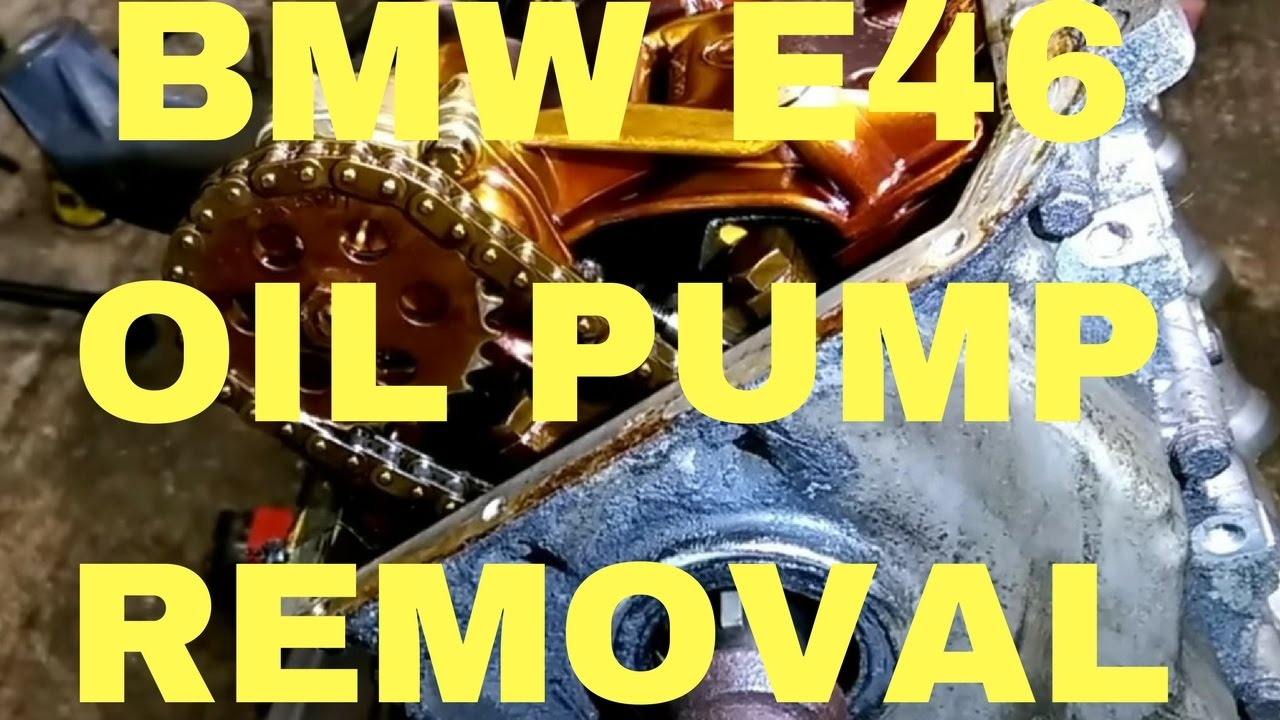 Bmw E46 Oil Pan And Oil Pump Youtube