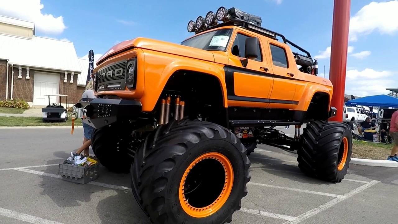 Big Bad Ass Sema Monster Truck Bronco Diesel Youtube