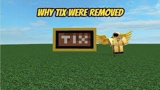 WHY TIX WERE REMOVED FROM ROBLOX (Roblox Short)
