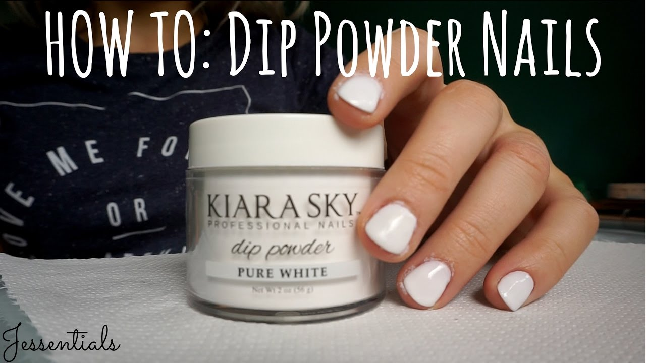 How To: Kiara Sky Powder Nails // JESSENTIALS - YouTube