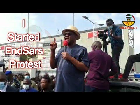 Gov Wike Joins #ENDSARS Protest In Port Harcourt