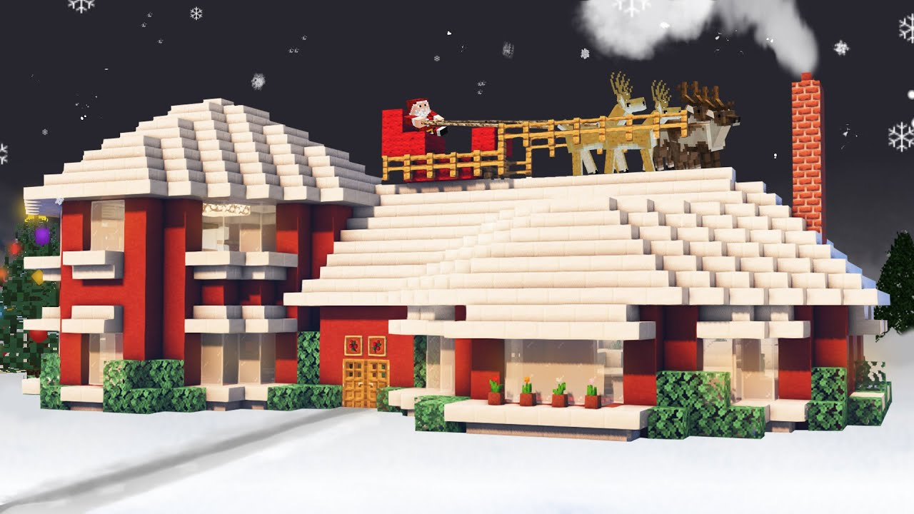 Minecraft Christmas House Tutorial 46 YouTube