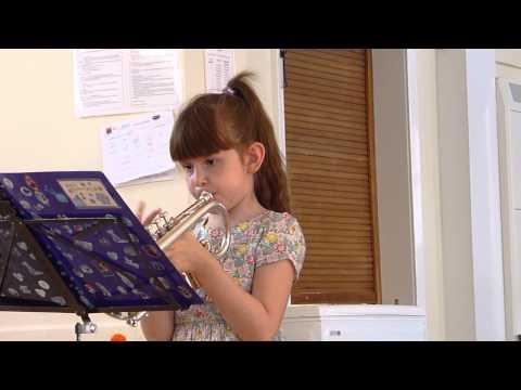 Beginner's exercises on the cornet