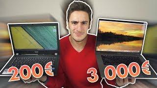 PC (200€) VS Mac (3 000€)