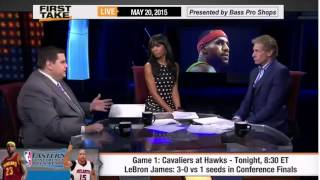 ESPN First Take   Cavaliers vs Hawks - How Much Pressure Is on LeBron James in Game 1 ?