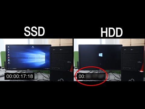 SSD vs. HDD, Windows 10