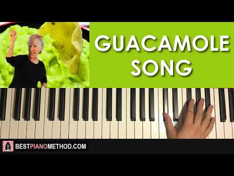 HOW TO PLAY - Dr. Jean - The Guacamole Song (Piano Tutorial Lesson)