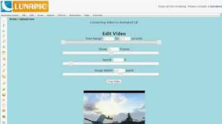 Convert a video clip to an animated gif in 1 step