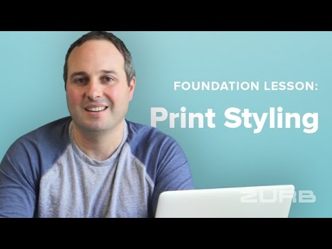 Create Customized Print Styles in Minutes Using Foundation