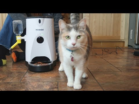 ⭐HOMMINI AUTOMATIC PET FEEDER BEST SMART FEEDER (HD Camera & Voice) Cat Dog (Phone App) REVIEW 👈