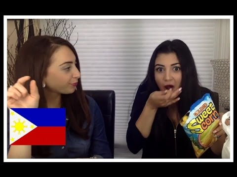 Canadians try Filipino snacks