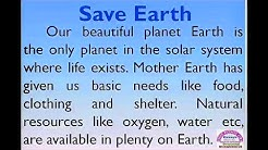 Save Earth essay in English by Smile Please Kids