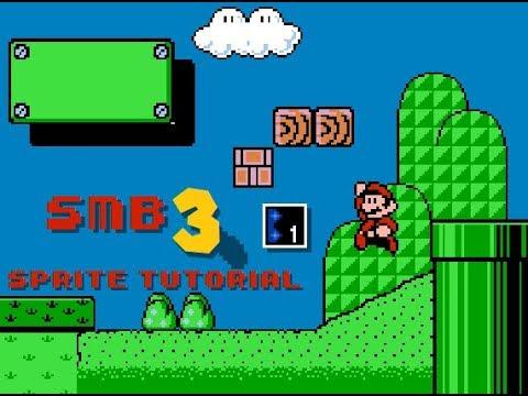 SUPER MARIO BROS 3: Sprite Animation Tutorial--Part 1/4: Building a Background!!